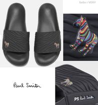 Paul Smith Zebra Patterns Street Style Shower Shoes Shower Sandals