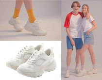 23.65 Casual Style Unisex Street Style Plain Low-Top Sneakers