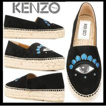 KENZO Platform Round Toe Lace-Up Shoes