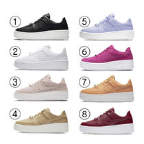 Nike AIR FORCE 1 Platform Round Toe Casual Style Street Style Plain
