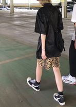 Printed Pants Leopard Patterns Casual Style Unisex
