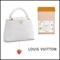 Louis Vuitton 2019-20AW ARTYCAPUCINES BB URS FISCHER white free bag