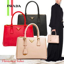 PRADA Saffiano 2WAY Plain Elegant Style Crossbody Handbags