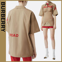 Burberry Cotton Short Sleeves Oversized Shirts & Blouses