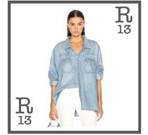 R13 Casual Style Denim Long Sleeves Shirts & Blouses