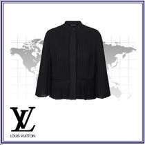 Louis Vuitton Silk Blended Fabrics Long Sleeves Plain Shirts & Blouses