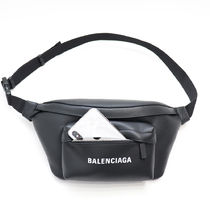 BALENCIAGA EVERYDAY TOTE Casual Style Unisex Calfskin Blended Fabrics Street Style