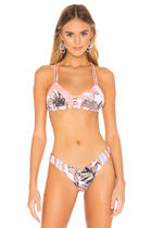 Triangl Stripes Flower Patterns Beachwear