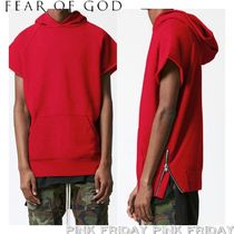 FEAR OF GOD Unisex Plain Cotton Short Sleeves Hoodies