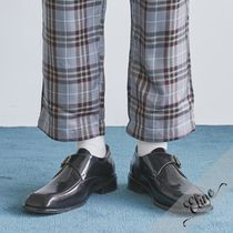OPEN THE DOOR Street Style Plain Leather Oxfords