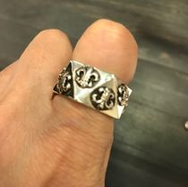 CHROME HEARTS BS FLARE Unisex Street Style Silver Rings