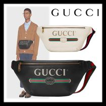 GUCCI Gucci Signature Leather Calfskin Street Style Bags