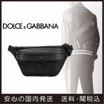 Dolce & Gabbana Unisex Nylon 3WAY Plain Messenger & Shoulder Bags