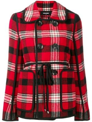 D SQUARED2 Other Plaid Patterns Casual Style Wool Medium Jackets