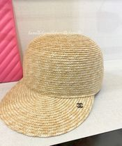 CHANEL Unisex Straw Hats