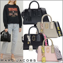 MARC JACOBS Snapshot Casual Style Plain Leather Handbags