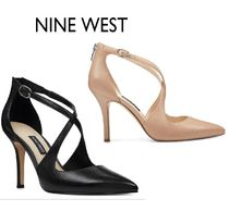Nine West Open Toe Blended Fabrics Street Style Plain