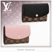 Louis Vuitton CAPUCINES Blended Fabrics Studded Bi-color Leather Folding Wallets