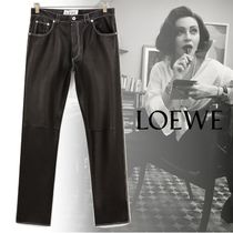 LOEWE Casual Style Street Style Plain Leather Long