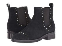 Cole Haan Rubber Sole Casual Style Suede Studded Plain Chelsea Boots
