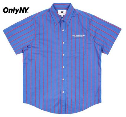 ONLY NY Shirts Stripes Street Style Short Sleeves Shirts
