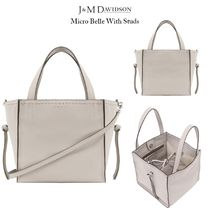 J & M Davidson Belle Calfskin Studded 3WAY Plain Elegant Style Handbags