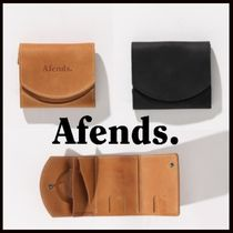 AFENDS Unisex Studded Street Style Leather Folding Wallets