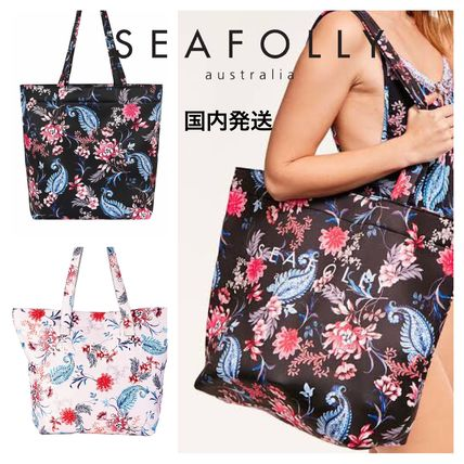 Flower Patterns Tropical Patterns Casual Style Totes