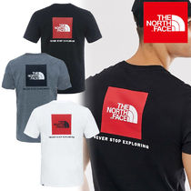THE NORTH FACE Crew Neck Unisex Street Style Plain Cotton Short Sleeves