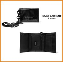 Saint Laurent Nylon Chain Folding Wallets