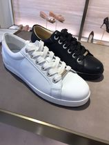 Jimmy Choo Plain Leather Low-Top Sneakers