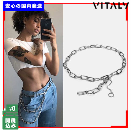 Casual Style Unisex Street Style Chain Wallet Chain Belts