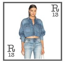 R13 Casual Style Denim Shirts & Blouses