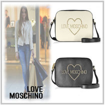 Love Moschino Heart Casual Style Calfskin Studded 2WAY Elegant Style