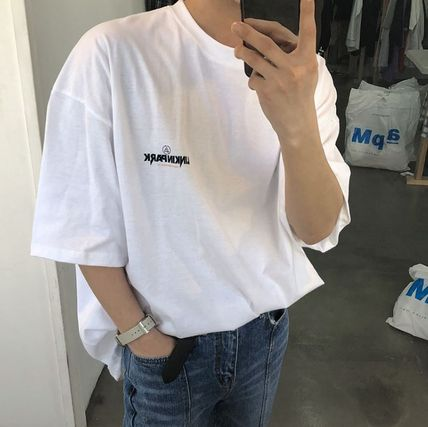 ASCLO More T-Shirts Cotton Short Sleeves Oversized Logo T-Shirts 8