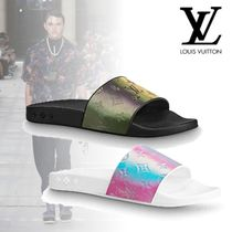Louis Vuitton Flower Patterns Monogram Street Style Shower Shoes