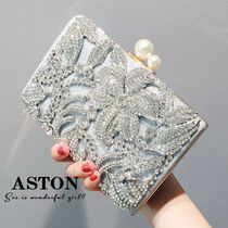 2WAY Chain Party Style With Jewels Clutches