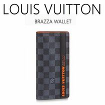 Louis Vuitton Other Check Patterns Bi-color Leather Folding Wallets