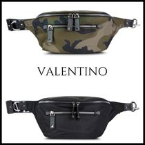 VALENTINO Camouflage Studded Street Style 2WAY Bags