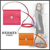 HERMES 2019-20AW WALLET CLIC 16 rose apricot wallets