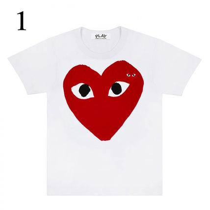 COMME des GARCONS Crew Neck Crew Neck Unisex Plain Short Sleeves Crew Neck T-Shirts 2