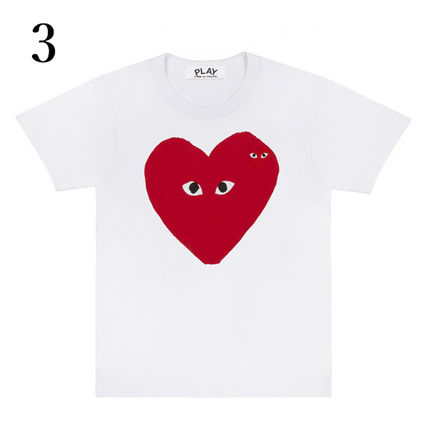 COMME des GARCONS Crew Neck Crew Neck Unisex Plain Short Sleeves Crew Neck T-Shirts 4