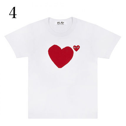 COMME des GARCONS Crew Neck Crew Neck Unisex Plain Short Sleeves Crew Neck T-Shirts 5