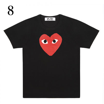 COMME des GARCONS Crew Neck Crew Neck Unisex Plain Short Sleeves Crew Neck T-Shirts 9