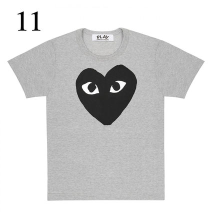 COMME des GARCONS Crew Neck Crew Neck Unisex Plain Short Sleeves Crew Neck T-Shirts 12