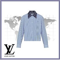 Louis Vuitton Stripes Casual Style Blended Fabrics Long Sleeves