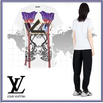 Louis Vuitton Blended Fabrics Cotton Short Sleeves T-Shirts