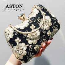 Flower Patterns 2WAY Chain Party Style Clutches