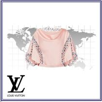 Louis Vuitton Short Silk Blended Fabrics Short Sleeves Cropped