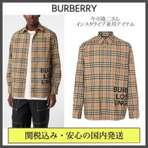 Burberry Other Check Patterns Street Style Long Sleeves Cotton Shirts
